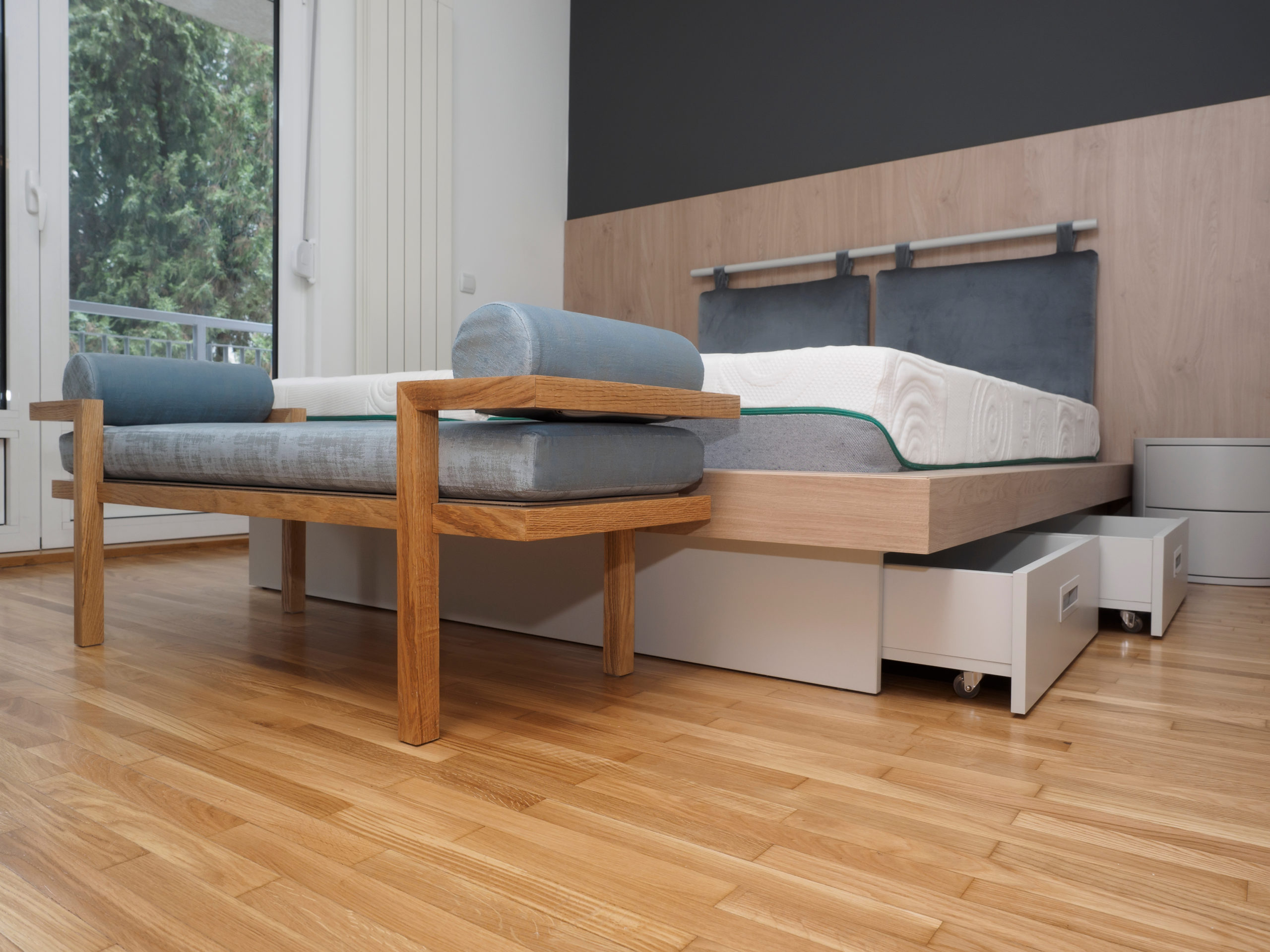 Tiny Home Storage Bed